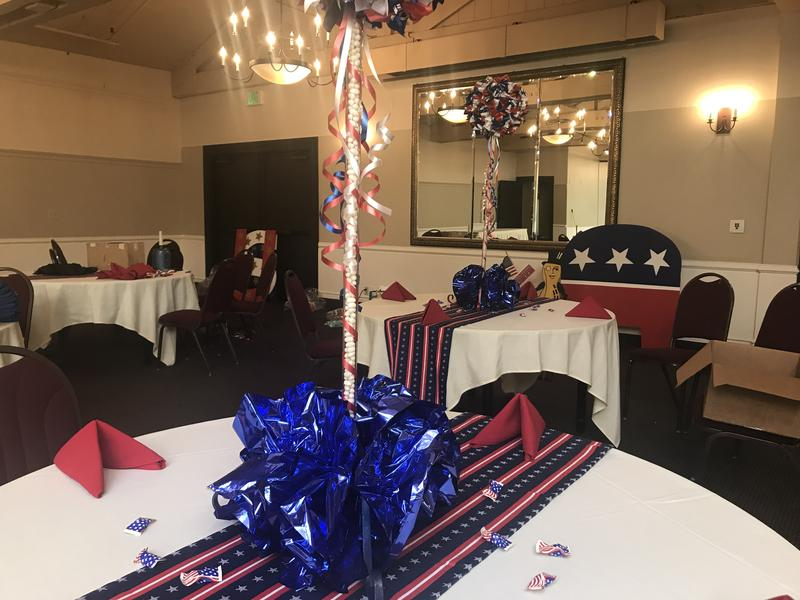 Setup for the luncheon was underway Wednesday morning. The Monterey Peninsula Republican Women Federated has been around for about ten years. Thursday marks their second-annual Central Coast Liberty Luncheon.