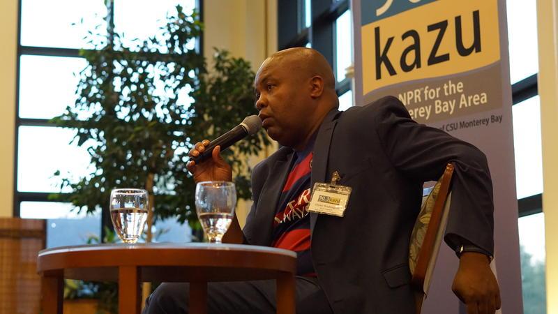 Glynn Washington, Creater of Snap Judgment at KAZU Salon Event