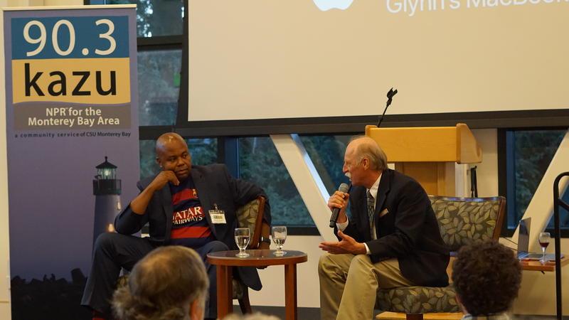 Glynn Washington and Mik Benedek at KAZU Salon Event