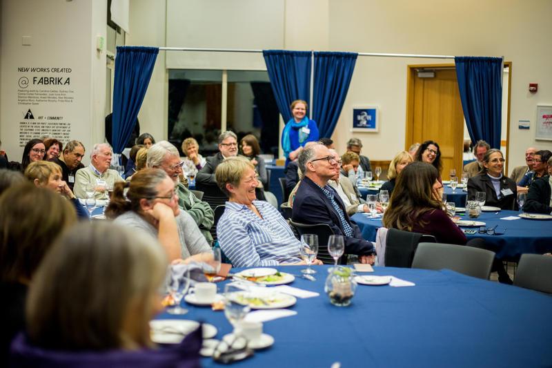 Salon Members enjoying Lulu Garcia-Navarro's presentation at KAZU Salon Event