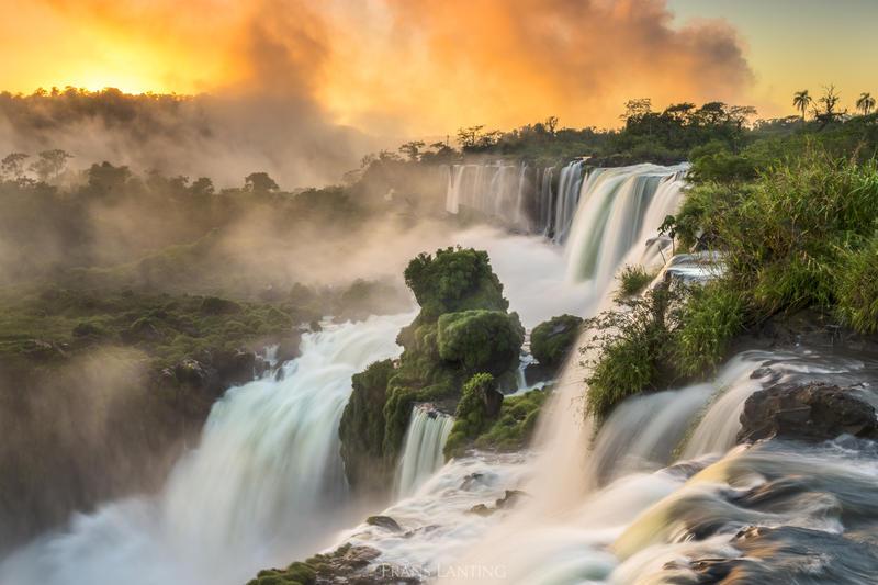Iguazu Falls at sunrise in Argentina