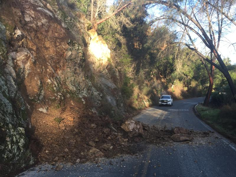 During the shutdown, winter storm damage like rockslides piled up. Clearing those was a priority as the park welcomed visitors back Monday.