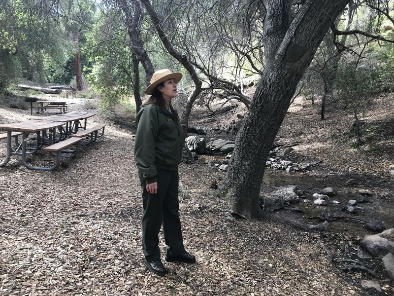 Park Ranger Beth Hudick says she's excited and relieved to be back at work but that it's also stressful after missing about a month.