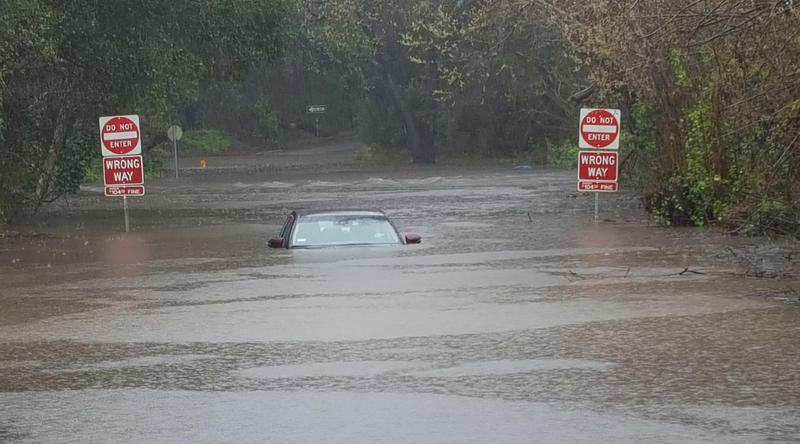 The National Weather Service has issued a Flash Flood Watch through Thursday morning. CHP says never drive through flooded roaways.