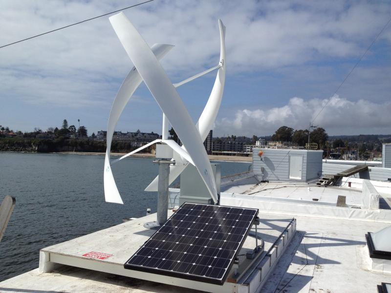 Micro-grid pilot project on the roof of Santa Cruz's Wharf Headquarters