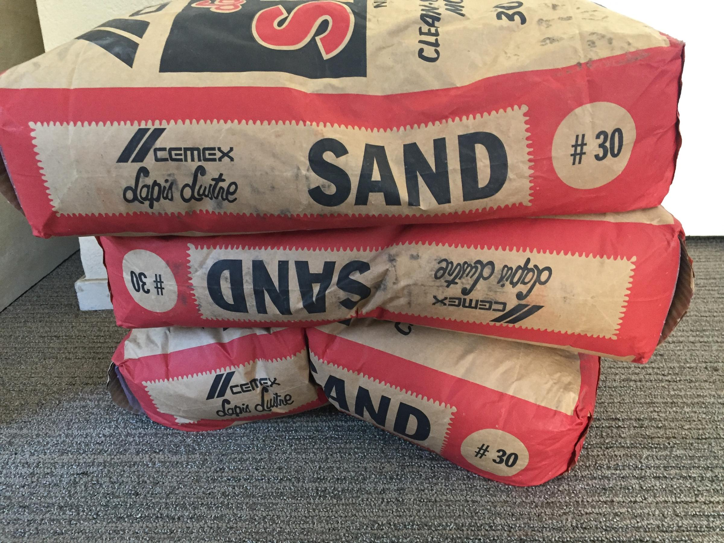 Bags Of Sand From The Cemex Plant In Marina Purchased At Local Home Depot