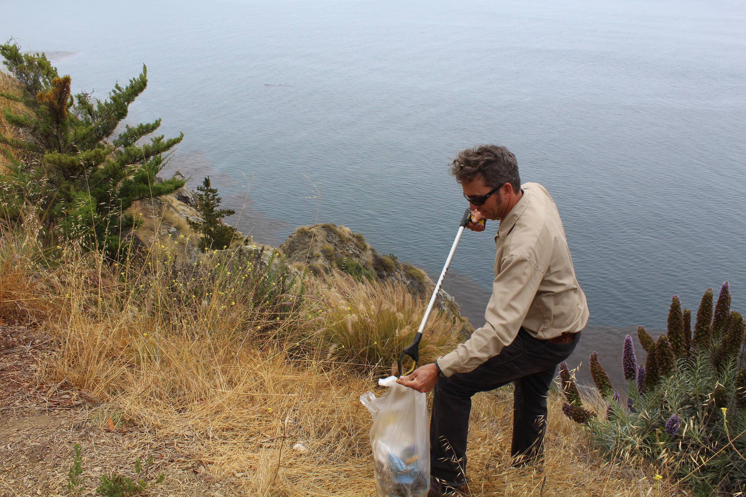 Sur Local Marcus Foster Picks Up Waste Near His Home He Says Finding Human Along Highway 1 Has Become Common