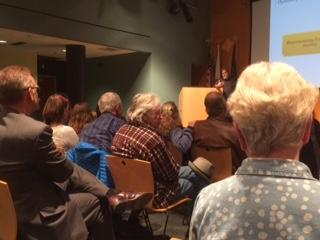 Residents Listen To Revenue Commissioner Hoffbeck's Presentation