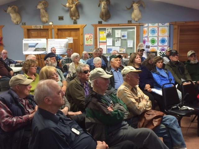 Anchor Point Residents listen to BlueCrest Presentation