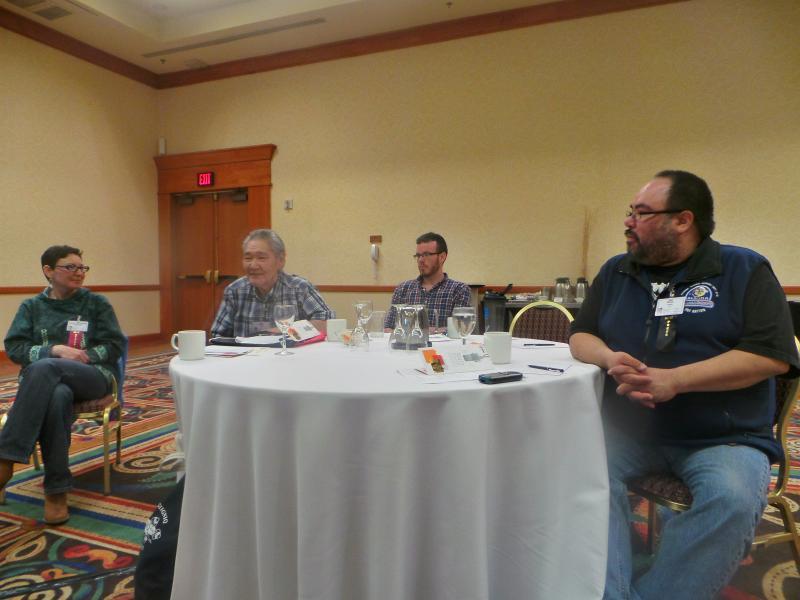 Enjoying the Alaska Native Media Summit.