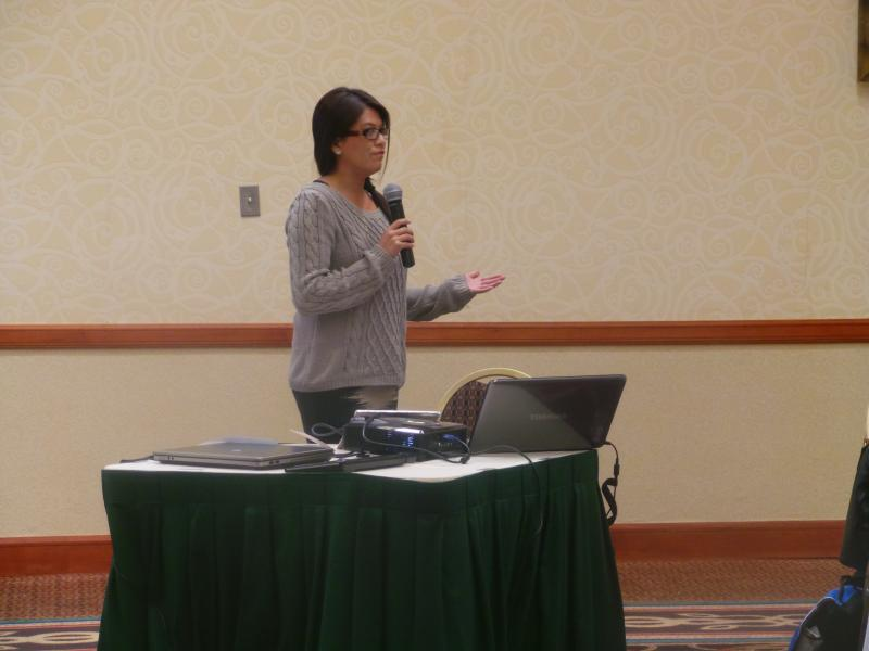 Candice Mendez reviewing the 2013 Radio Survey Highlights.