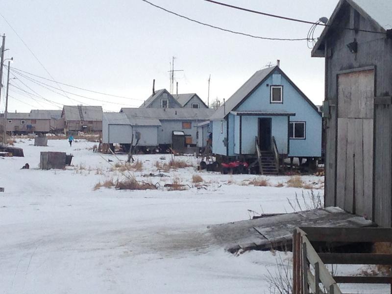 Village scene, Kwethluk in SW Alaska.