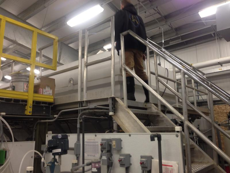 In the Kwethluk water treatment plant, river water goes through multiple filters and is treated to remove sediment and add chlorine.