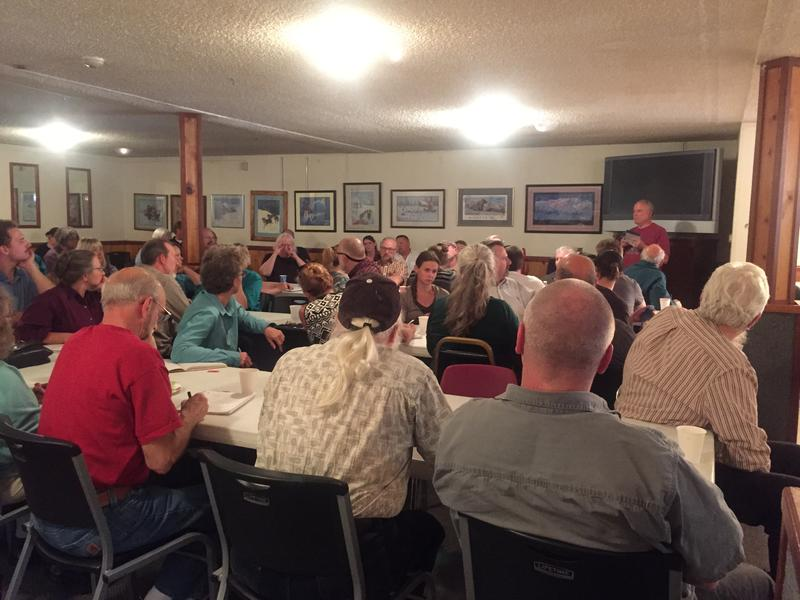 About 60 people turned out for the Southcentral Alaska Beekeepers Association meeting held August 24, 2015 at the VFW Hall in Eagle River.