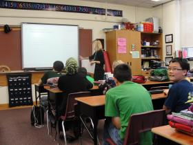 Class at Jefferson Junior High School