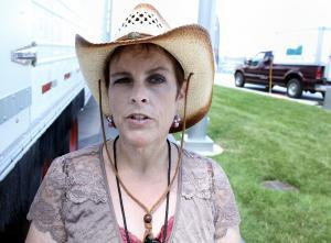 Genell Pridgen is a partner in the Nebraska Environmental Action Coalition's Mobile Meat Processing Project. She led tours through an empty unit at Farm Aid, and says this is one way for to keep food grown and raised in one place, eaten in the same area.