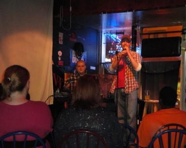 "Jay Groharing hosts the ""As Yet Unnamed Comedy Show"" at Eastside Tavern every Tuesday night."