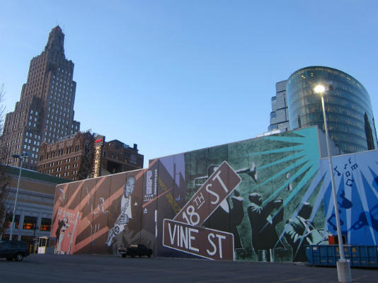 A mural in the historic 18th and Vine jazz district in Kansas City, Mo.