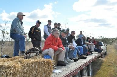 Members of the Missouri chapter of the Walnut Council took a hayride during their fall meeting on Saturday, Oct. 2, 2010 in Polo, Missouri. They viewed a number of different tree management techniques and learned about ideal conditions in which to grow.