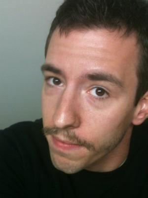 Movember participant Charlie Maitz. Two more weeks to go.
