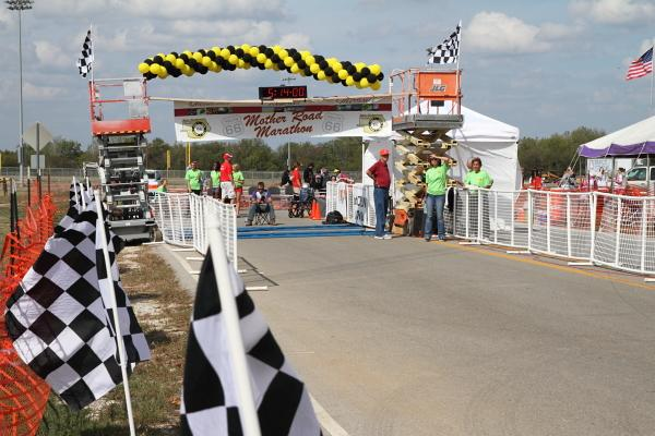 Finish line of the second annual Mother Road Marathon in Joplin.