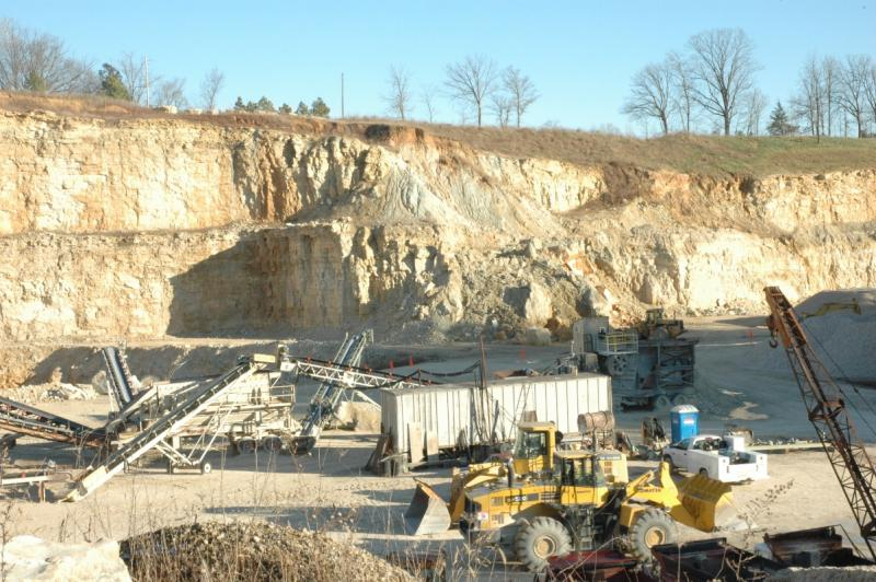 Barrett Materials' quarry in New Haven, Mo (seen here) is the only one the company owns currently. The company's proposed quarry in Belle, Mo. has prompted local residents to appeal to the Missouri Land Reclamation Commission