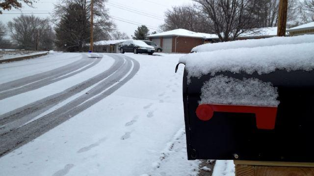 Columbia, Mo. received its first snowfall of the season.  County officials advise drivers to stay safe on the roads.