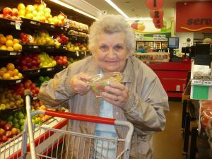 Althea Sender has to shop in a town 30 miles away from home.