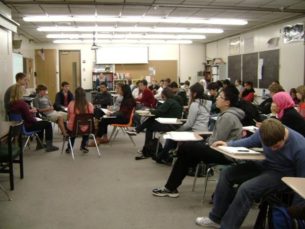 An AP World Studies class at Rock Bridge high school in Columbia