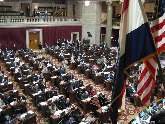 The Missouri state house floor