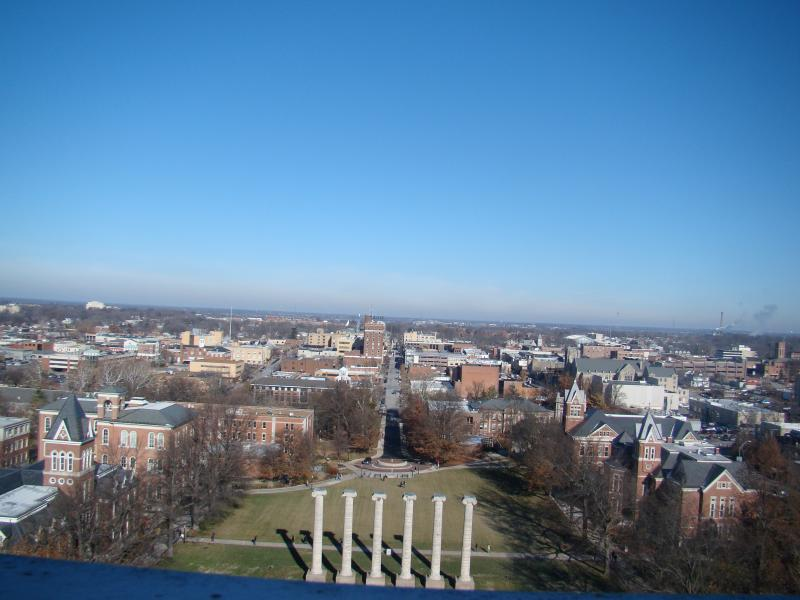 A view of the quad at the University of Missouri