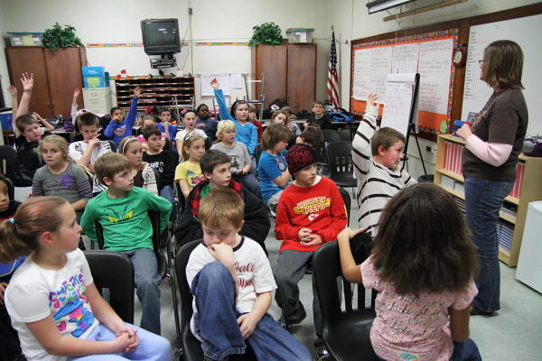Fourth graders at Pershing Elementary.