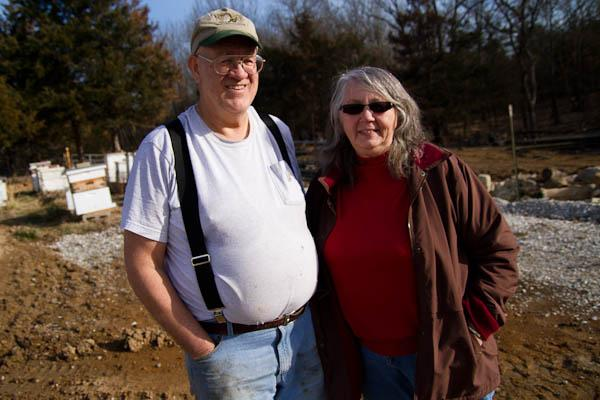 Art and Vera Gelder on their 11 acre farm, just a few miles north of Columbia.