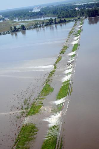 A breach levee in northwest Missouri led to extensive flooding during the 2011 summer.