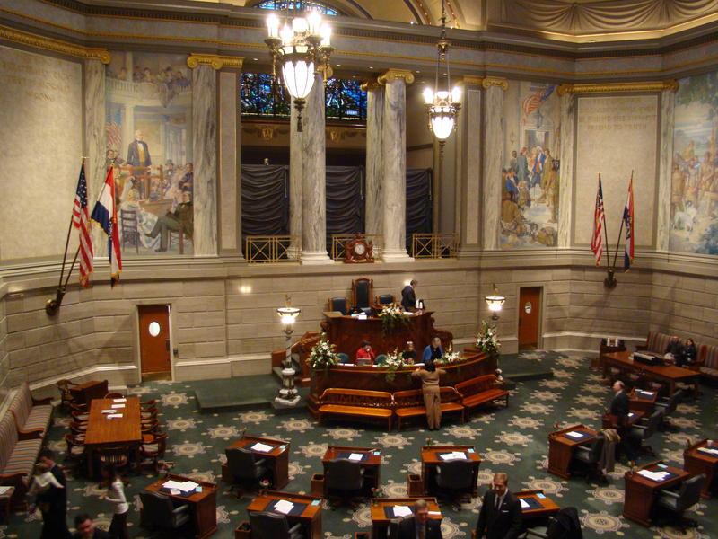 Senate floor at the Missouri Capitol