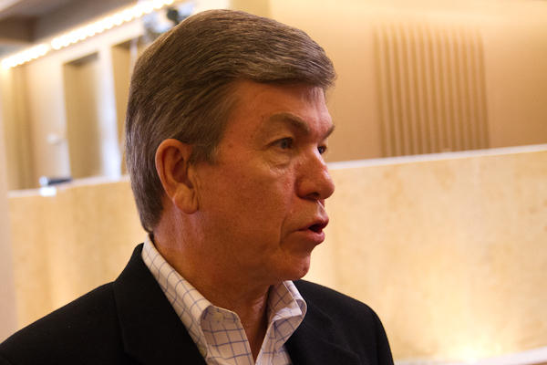 Roy Blunt in Columbia on Saturday.
