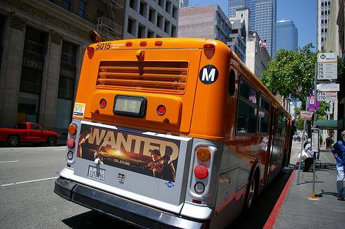 A bus with advertisement