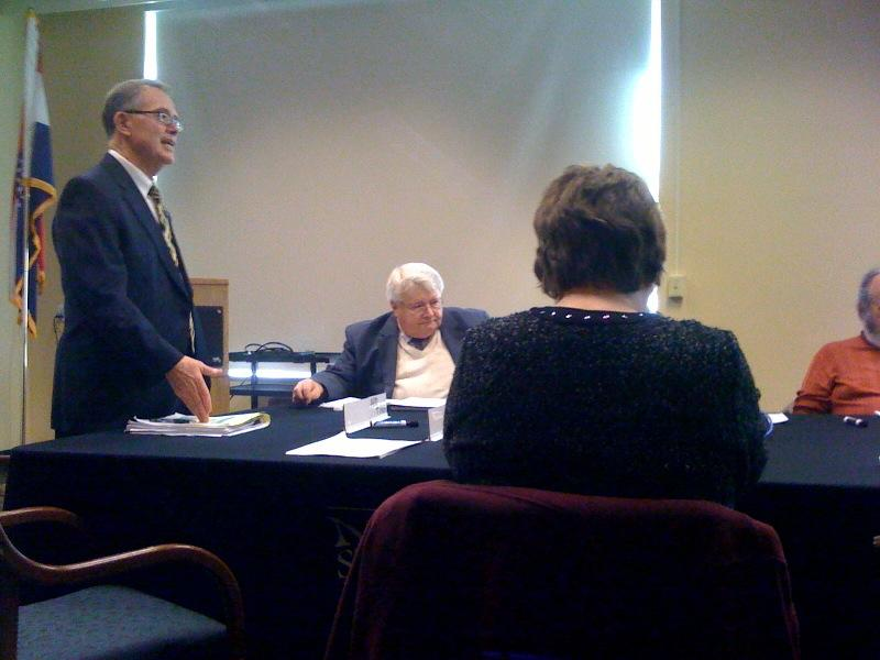 University of Missouri Chancellor Brady Deaton speaks the MU Faculty Council on Feb. 23, 2012