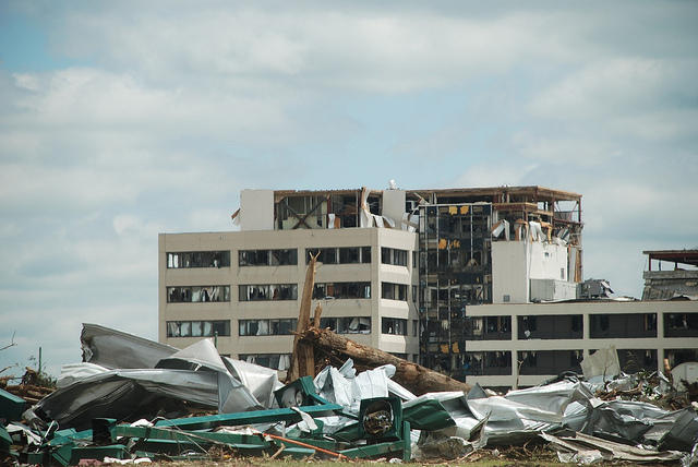 St. John's Mercy Hospital was all but destroyed by the May 22 Joplin tornado, which ravaged the city's school houses as well.