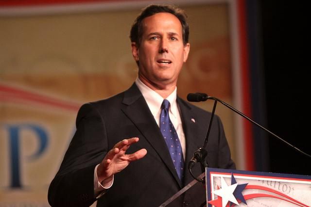 Rick Santorum, speaking in Florida earlier this year