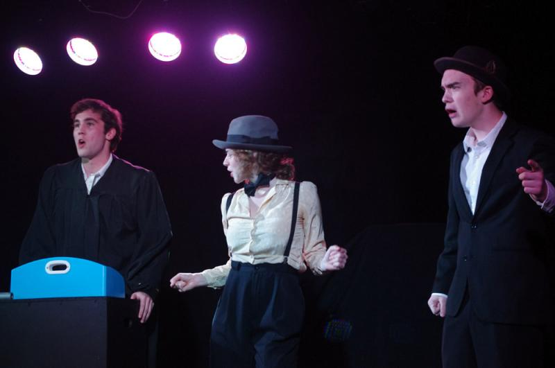 "Nathan Bryant, Brooke Underwood and Matt Ingram perform in Claudia Barnett's ""Lillie Meant Murder"" at the short Women's Play Festival on Saturday, March 10, 2011."