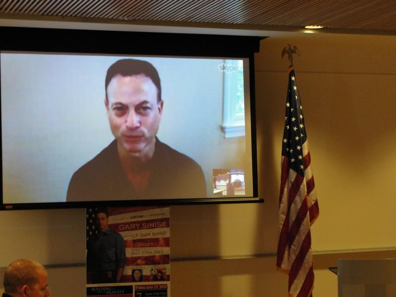 "Gary Sinise joined others involved in ""Operation Tyler"" via Skype at an event Tuesday."
