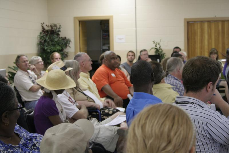 Concerned citizens and housing residents in Columbia gathered Wednesday night, July 25, to share concerns about the Columbia Housing Authority's strategic plan.