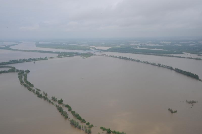 The Birds Point-New Madrid Floodway after it was flooded.