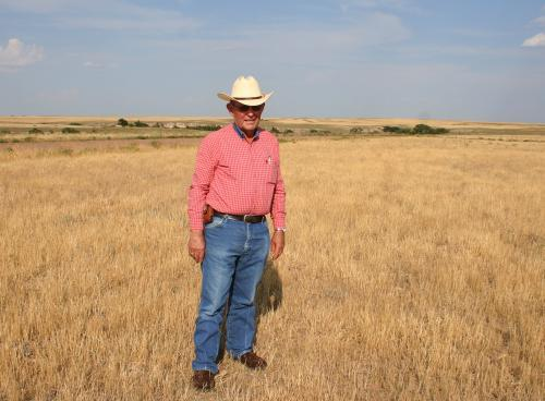 Nathan Pike was born on this land during the Dust Bowl, but he's never seen it this dry. With little for his cattle to eat, he has been forced to liquidate most of his herd.