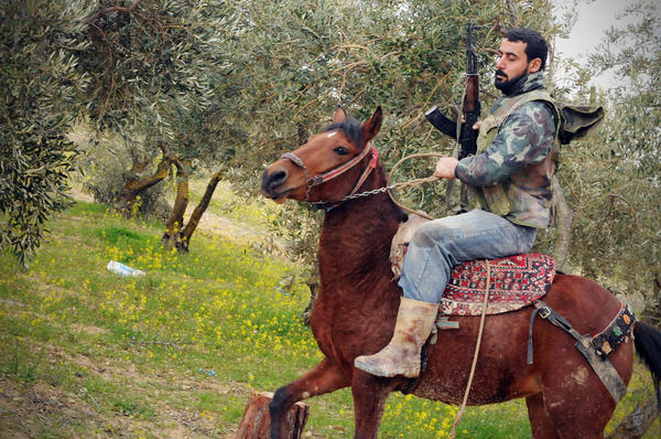Photojournalist Jonathan Alpeyrie photographed members of the Free Syrian Army in March 2012.