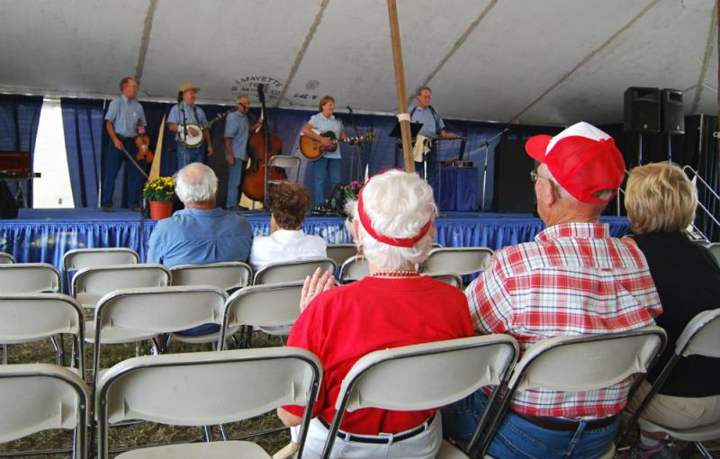 The Four Mile Creek Band was among the musical acts that performed for show visitors.
