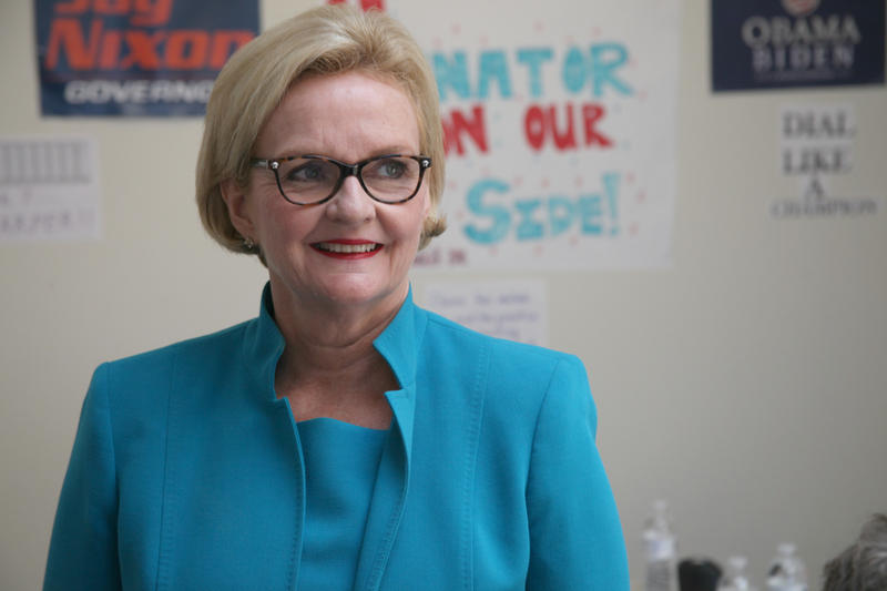 Sen. Claire McCaskill, D-Mo., visited Columbia, Mo., Aug. 7, 2012, to call voters and ask for support for the general election in the fall.