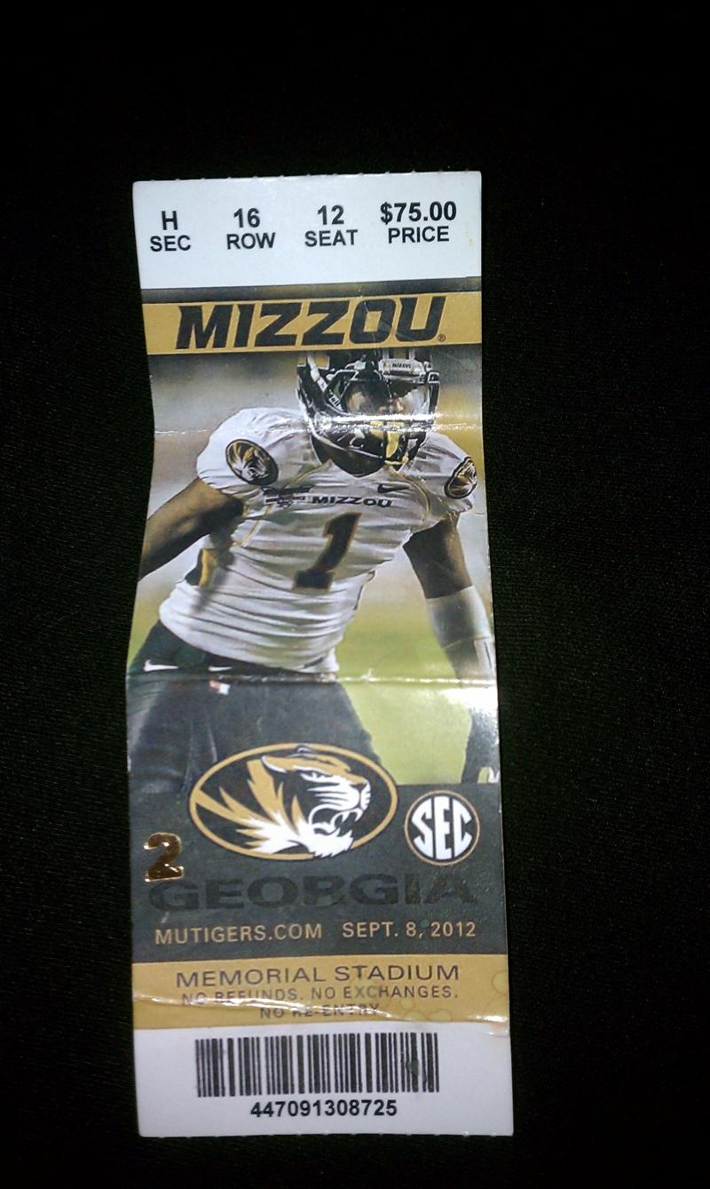 One of the fake tickets sold to last weekend's football game.