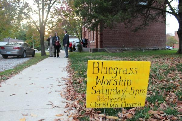 First Christian Church in Rocheport holds a bluegrass service on the first Saturday of every month.